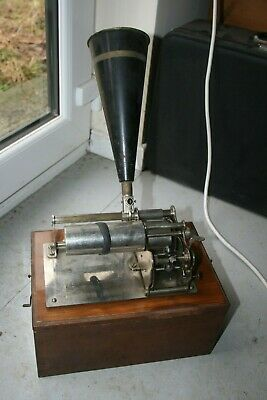 Edison style phonograph wax cylinder player + over 50 cylinders