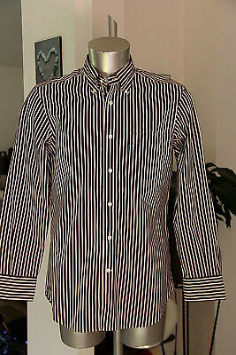 Pretty Shirt Striped Brown Man Façonnable Classic Size M like New