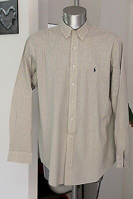Pretty Plaid Shirt Polo by Ralph Lauren Yarmouth Size 16 1/2 like New