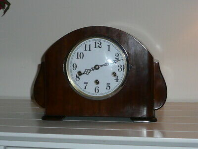 Fully working German Westminster Chime Mantle or Mantel Clock.