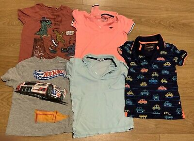 5 x Boys T-Shirts Including Bluezoo Age 4-5 Years