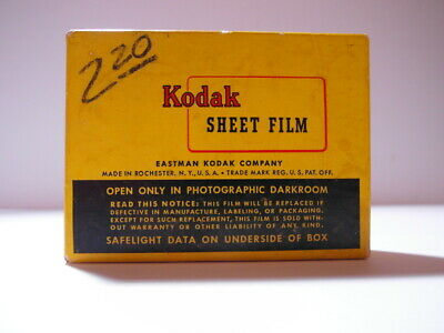 New Old Stock Kodak 6.5X9 Sheet Film Super Xx Panchromatic Black & White B&W Exp
