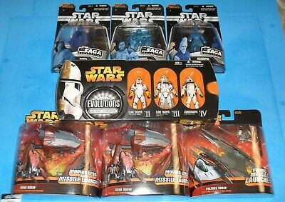 Star Wars Lot of 9 Figures Evolutions (Hasbro 2005) Clone Trooper Army ROTS