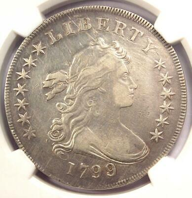 1799/8 Draped Bust Silver Dollar $1 13 Stars - NGC XF Details - Rare Overdate!