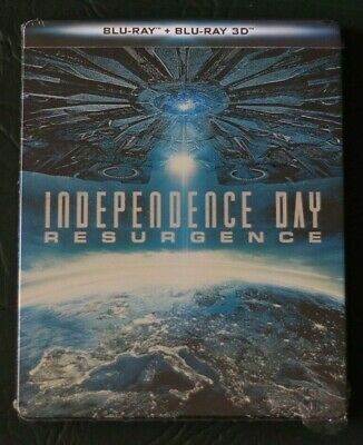 INDEPENDENCE DAY : CONTRAATAQUE - STEELBOOK - BLURAY blu ray  RESURGENCE 2D + 3D