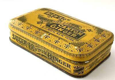Vintage Rich's Crystallized Canton Ginger Tin E. C. Rich Inc. New York