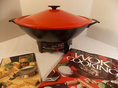 West Bend Electric Wok Model 79525 - Nice RED