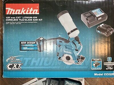 Tool Only MAKITA Cordless Tile//Glass Saw 3-3//8 in 12-Volt MAX CXT Lithium-Ion
