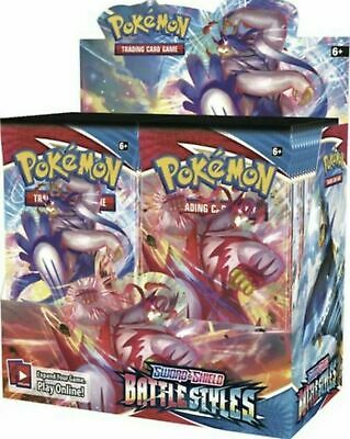 5 SWORD & SHIELD Booster Pack Lot : Factory Sealed From Box Pokemon Cards