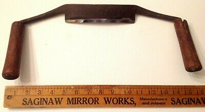 Antique Draw Knife W/Large, Curved, Hand-Forged & Sharpened Blade; Exc.  Cond.