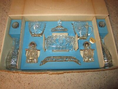 Vintage 11 Piece Early American Prescut Table Service By Anchor Hocking MIB!!!