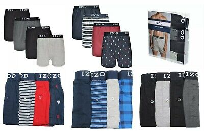4 PACK- Size M, LG, XL, 2XL IZOD Men's Knit Boxers Assorted   New Without Box