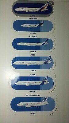 AUTOCOLLANT Airbus stickers set of 6