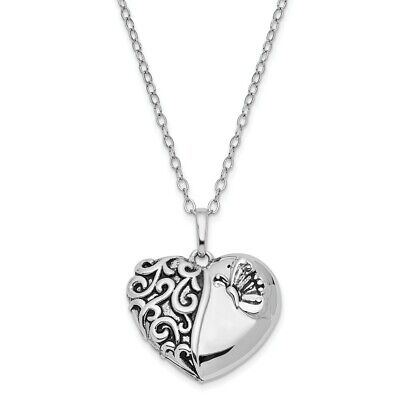 Antiqued Sterling Silver One More Day Ash Holder Necklace, 18 Inch