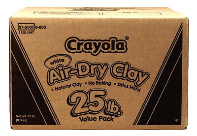 Crayola Air-Dry Durable Modeling Clay, 25 Pounds, White