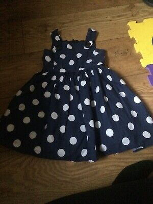 next girls blue and white dress age 18-24 months excellent condition