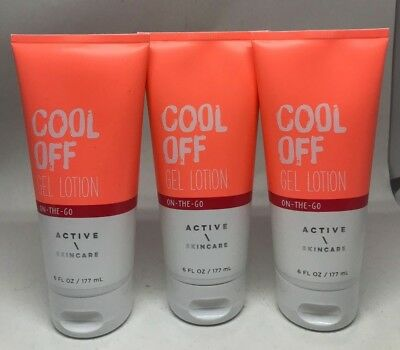 3 Bath & Body Works Active Skincare Cool Off Gel Lotion On The Go NEW