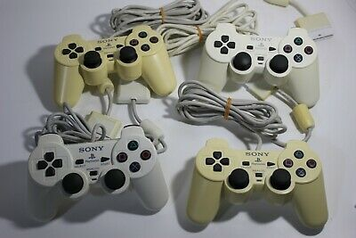 PlayStation official Controller 4X White color PS2 Dualshock 2 JAPAN F/S 1