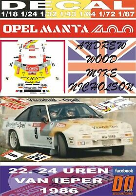 DECAL OPEL MANTA 400 A.McHALE CIRCUIT OF IRELAND R 05 1984 DnF