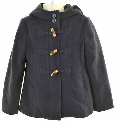 UNITED COLORS OF BENETTON Girls Duffle Coat 6-7 Years Small Blue Wool  HO05
