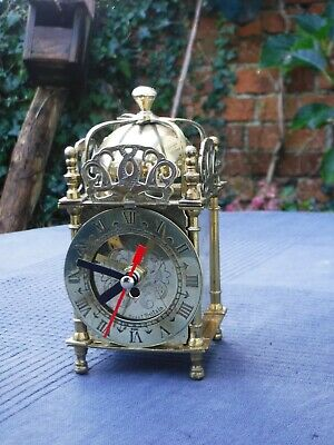 Vintage Brass Carriage Clock with Battery Conversion