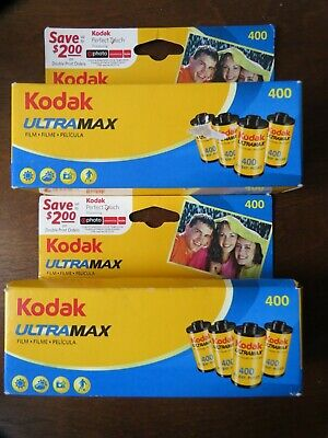 8 Rolls Kodak UltraMax 35mm 400 Speed Color Film 24 Exposure each EXPIRED12/2009
