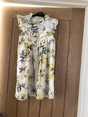 Girls Next Gorgeous Yellow Floral Summer Dress Age 8 Years.