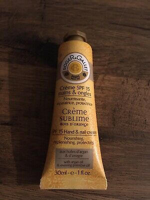 Roger And Gallet Hand And Nail Cream SPF 15 Brand New