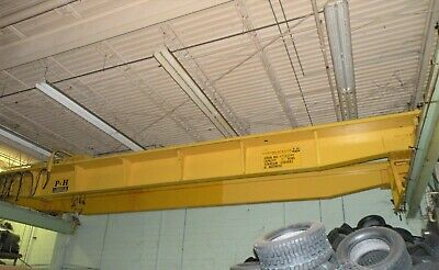 7.5 Ton P&H Torbeam Double Girder Overhead Bridge Crane with Rails