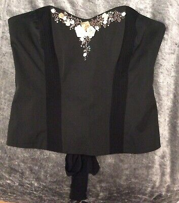 Next ladies size 16 tailored Basque/ corset / Bustiere new