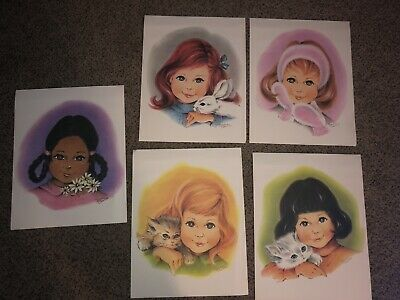 Vintage Irene Charles Art - All 5 - Very Rare!