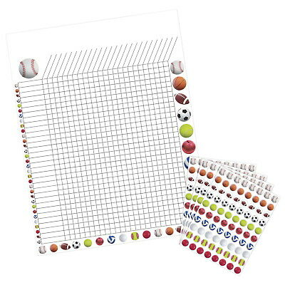 Hygloss Incentive Poster with 9600 Sports Stickers, 17 x 22 Inches, Assorted
