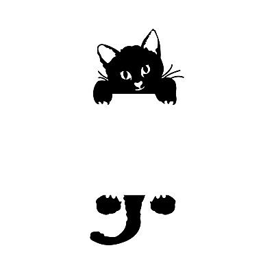 Vinyl Wall Art Decal - Kitty Cat - 8* x 3* - Cute Home Apartment Kids Boy Girl B