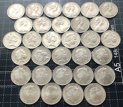 1966 - 2019 AUSTRALIAN 20 CENT COIN SET - 40 COINS - 1971 N/A (Not Included)