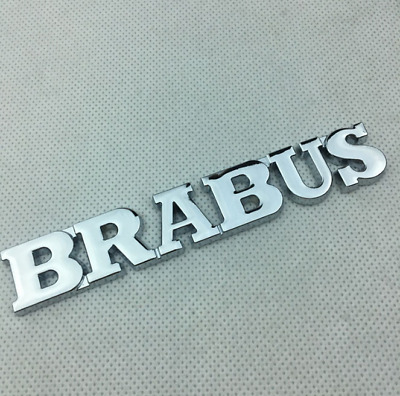 BRAND NEW ORIGINAL BRABUS TRUNK LOGO BADGE EMBLEM IN CHROME REAR BACK SL G S CL