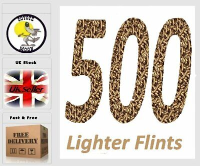 Lighter Flints Lighter Flint Gold, Zippo Flints Clipper Lighter Petrol 500 UK