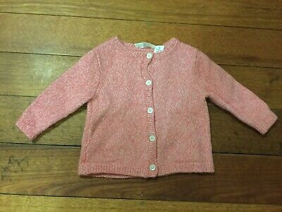 Baby COUNTRY ROAD pink Knit Button Front Cardigan Size 0 Wool Blend