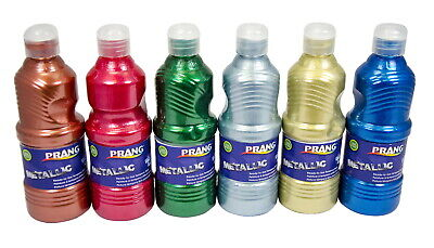 Prang Ready-to-Use Washable Tempera Paint Set, Assorted Metallic Colors,  Pint