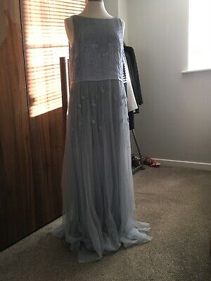 No1 Jenny Packham  light blue waterfall dress BNWT size 14
