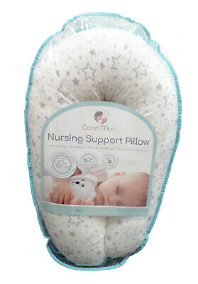 Deluxe Memory Foam Large Nursing Support Feeding Cushion Sleeping Pillow - Stars