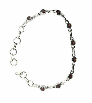 grand Garnet 925 Solid Sterling Silver Red Bracelet genuine supplies US gift
