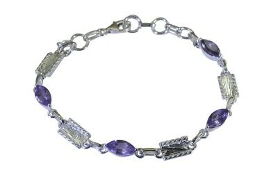 grand Amethyst 925 Solid Sterling Silver Purple Bracelet Natural wholesale US