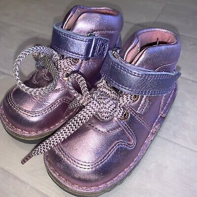Girls Infant Shoes Size 7 Kickers Flashing