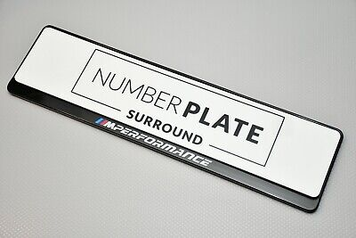 1 x Prestige Black Stainless Steel Number Plate Holder for any BMW M Performance
