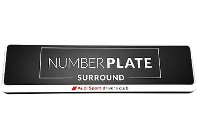 1 x Prestige White Stainless Steel Number Plate Holder for any Audi Sport