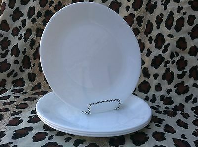 4 Corelle Dishes Winter Frost White Medium Sized Luncheon Plates Set Of 4