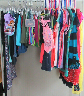 60Pc Lot Girls Sz 7/8 8 Clothes Spring Summer Justice,Gap,Ch Place,A&F,Gymboree