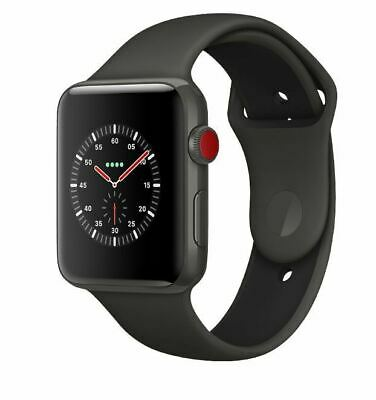 APPLE Watch Series 3 Ceramic (GPS+Cellular) 38mm Grau mit Sportarmband  2337188