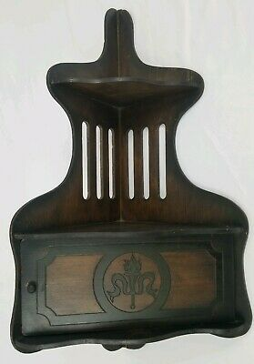 """Antique Corner Shelf With Cabinet Two Tier Walnut Victorian 24"""" Tall"""