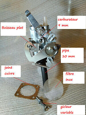 Kit performance carburateur gicleur pipe filtre joint solex competition